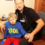 Jasiu z terapeutą od Artykulacji p. Szymonem Masłowskim